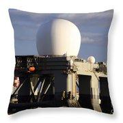 Sea Based X-band Radar Dome Modeled Throw Pillow