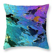 Sea Ice Core One Millimeter Thick Throw Pillow