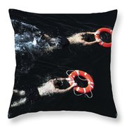 Search And Rescue Swimmers Throw Pillow