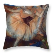 Seated Dancer Throw Pillow by Edgar Degas