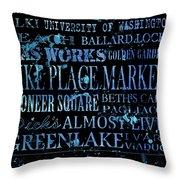Seattle Icons Throw Pillow