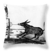 Secession Cartoon, 1861 Throw Pillow