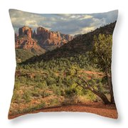 Sedona Red Rock  Throw Pillow
