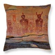 Sego Canyon Indian Petroglyphs And Pictographs Throw Pillow