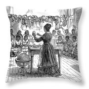 Segregated School, 1870 Throw Pillow by Granger