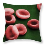 Sem Of Red Blood Cells Throw Pillow by Omikron