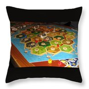 Settlers Of Catan Throw Pillow