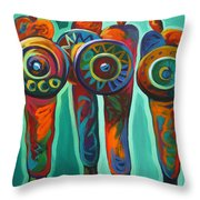 Seven Feathers Throw Pillow
