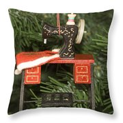 Sewing Machine Ornament Throw Pillow