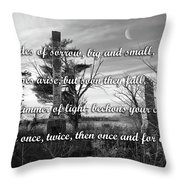 Shades Of Sorrow Throw Pillow