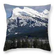 Sharp Rundle Peaks Throw Pillow
