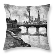 Sheffield, England, 1884 Throw Pillow