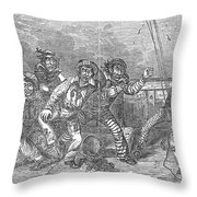 Shipboard Life Throw Pillow