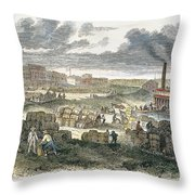 Shreveport Levee, 1872 Throw Pillow
