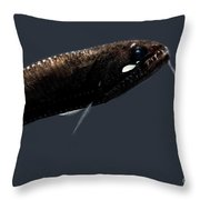 Sickle Snaggletooth Throw Pillow