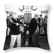 Silent Film: Amusement Park Throw Pillow