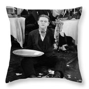 Silent Film: Restaurant Throw Pillow