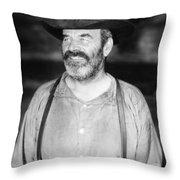 Silent Film Still: Beards Throw Pillow