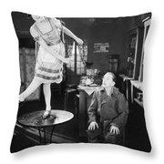 Silent Film Still: Dancing Throw Pillow