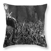 Silent Film Still: Orgies Throw Pillow