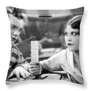 Silent Film Still: School Throw Pillow