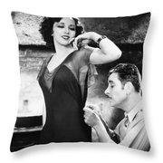 Silent Film Still: Sewing Throw Pillow