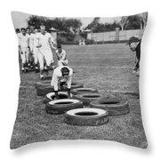 Silent Film Still: Sports Throw Pillow