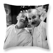 Silent Still: Barber Shop Throw Pillow