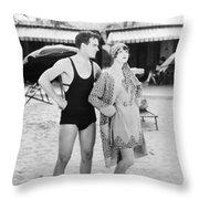 Silent Still: Beach Throw Pillow