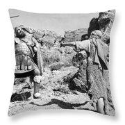 Silent Still: Biblical Throw Pillow