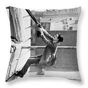 Silent Still: Man In Distress Throw Pillow