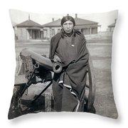 Sioux Warrior, 1891 Throw Pillow