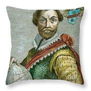 Sir Francis Drake (1540?-1596) Throw Pillow
