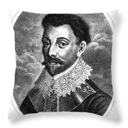 Sir Francis Drake, English Explorer Throw Pillow by Photo Researchers