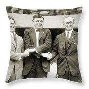 Sisler, Ruth & Cobb, 1924 Throw Pillow