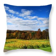 Six Miles Creek Vineyard Throw Pillow