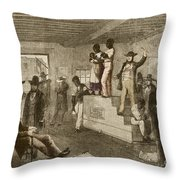Slave Auction, 1861 Throw Pillow by Photo Researchers