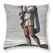 Slide Trumpet, 1723 Throw Pillow