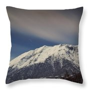 Snow-capped Alps Throw Pillow