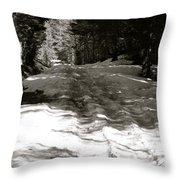 Snow In April Throw Pillow