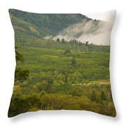Snowbasin Utah Throw Pillow
