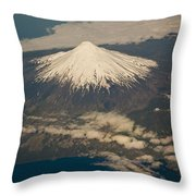 Snowcovered Volcano Andes Chile Throw Pillow