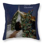 Snowy Christmas Eve Throw Pillow