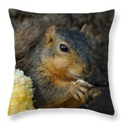 So Much Sweet Corn So Little Time Throw Pillow