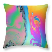 Soap Film Throw Pillow