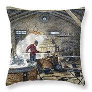 Soap Manufacture, C1870 Throw Pillow