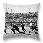 Soccer Match, 1930s Throw Pillow