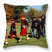 Soldiers March Throw Pillow