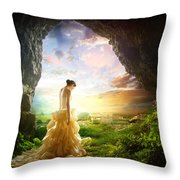Solitary View Throw Pillow