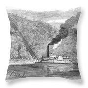 South: Cotton, 1861 Throw Pillow